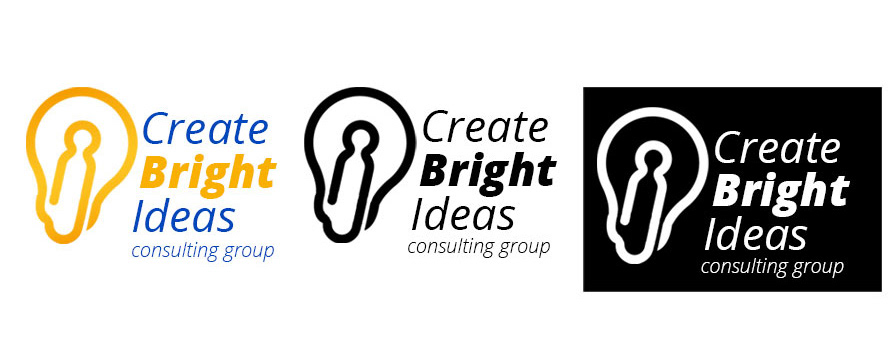 Create Bright Ideas Consulting Group logo variations