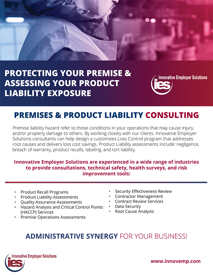 Innovative Employer Solutions Product Liability Construction